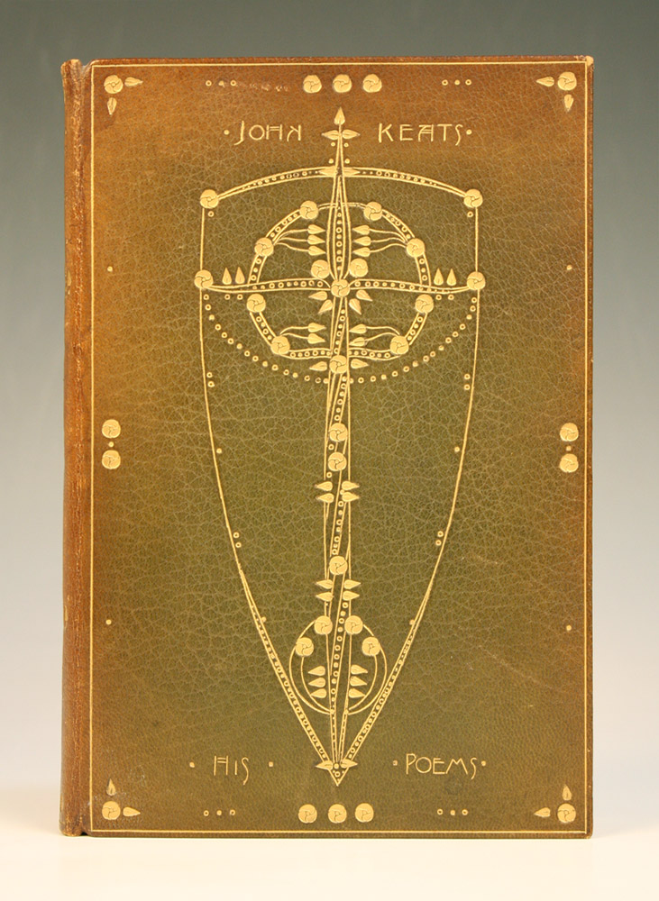 Poems by John Keats (1898) with bookbinding by Ann Macbeth (GSA Mackintosh Library, Book Arts Collection)